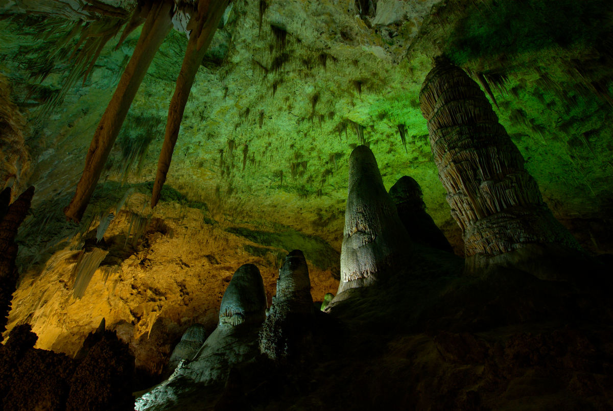 Stalagmites, Carlsbad Caverns, New Mexico