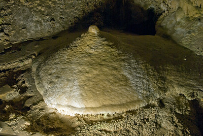 Limestone formation in Carlsbad Caverns National Park, New Mexico