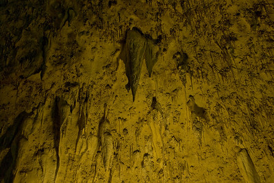 Stalactites hang like daggers in the Big Room at Carlsbad Caverns National Park in New Mexico