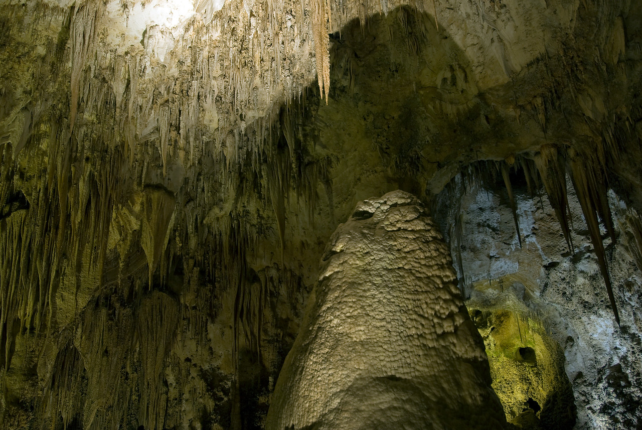 Stalactites in the Big Room at Carlsbad Caverns National Park in New Mexico
