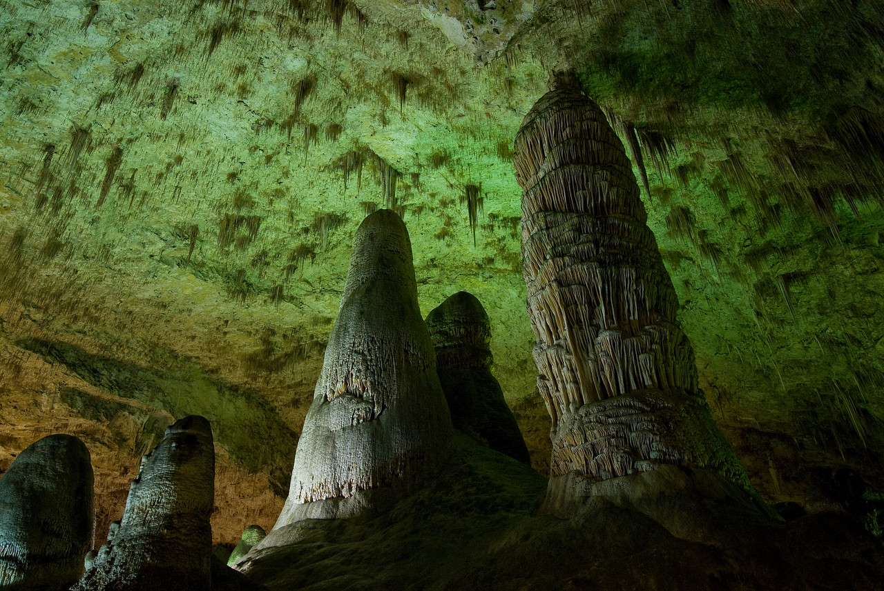 The Hall of Giants in the Big Room of Carlsbad Cavern National Park, New Mexico
