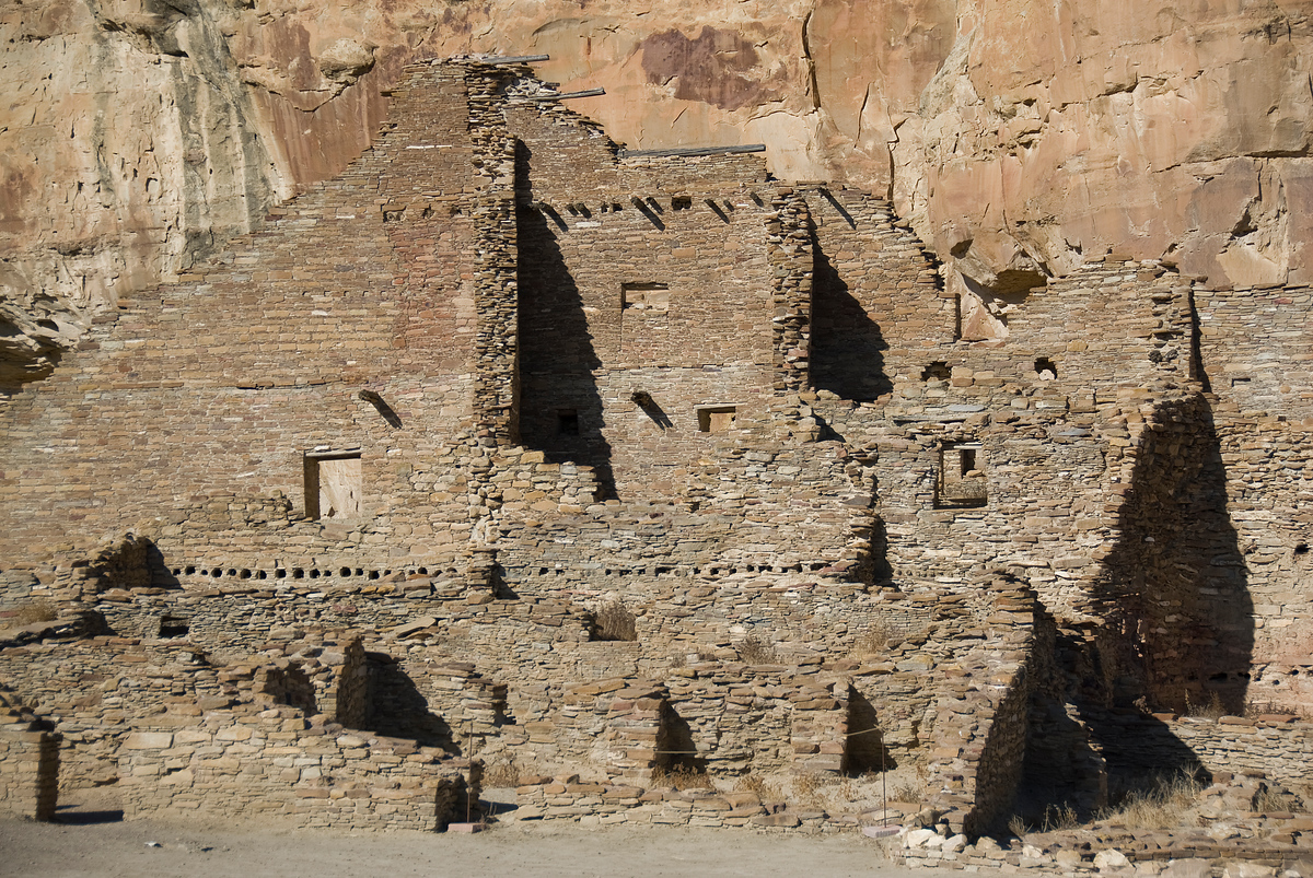 Ruins at the Chaco Culture National Monument in New Mexico