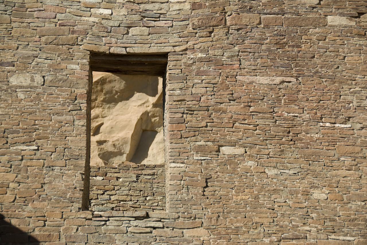 Ancient pueblo. Chaco Culture National Historic Park, New Mexico, USA
