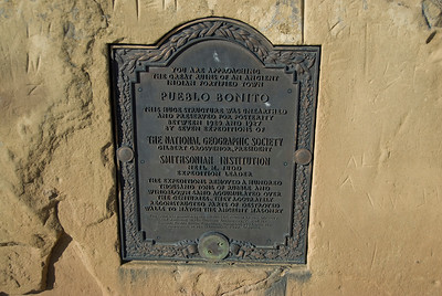 The National Geographic Society memorial at Chico Culture National Historic Park in New Mexico