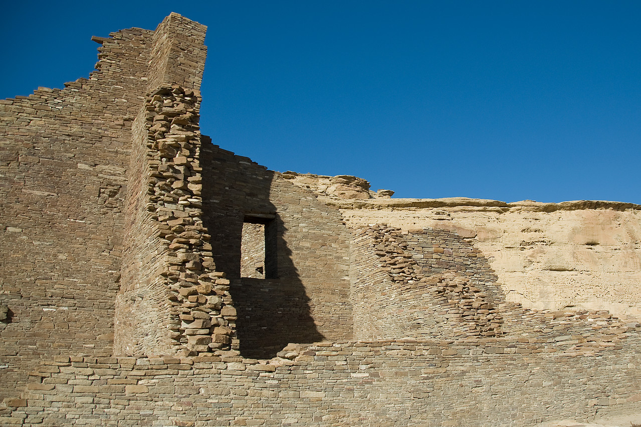 Ancient pueblo. Chaco Culture National Historic Park, New Mexico, USA
