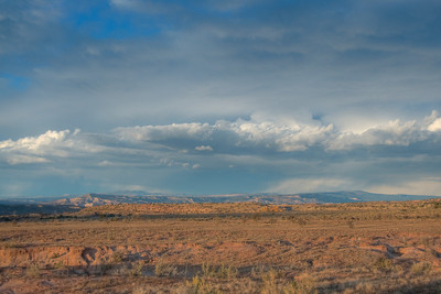 The New Mexico landscape and Guadalupe Mountains, USA