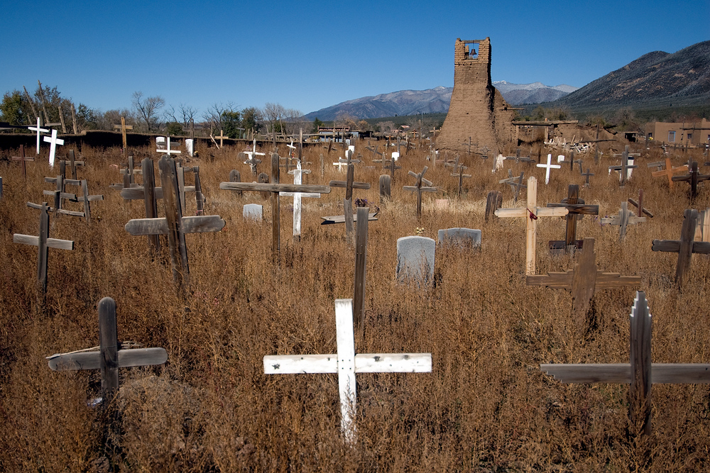 Cemetery in the Taos Pueblo Community, New Mexico