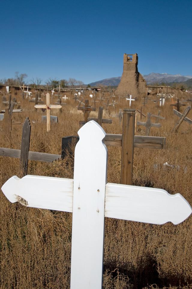 Taos Pueblo Cemetery in New Mexico