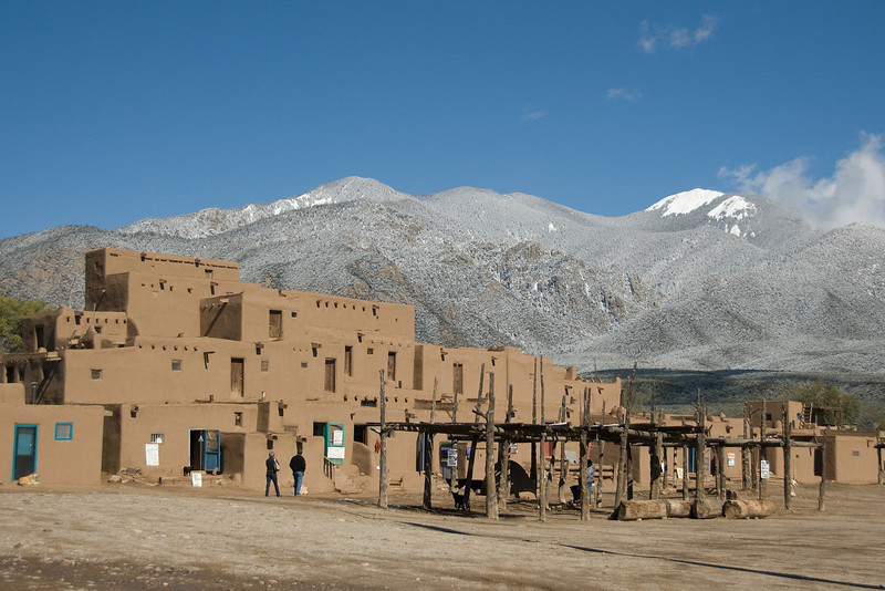 Adobe architecture in Taos Pueblo, New Mexico