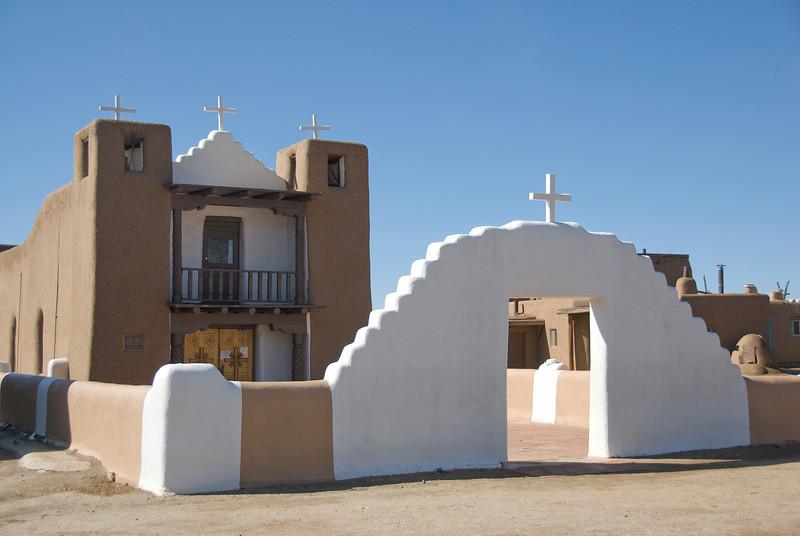 San Geronimo Chapel in Taos Pueblo, New Mexico, USA