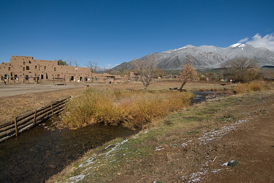 Landscape in Taos Pueblo, New Mexico