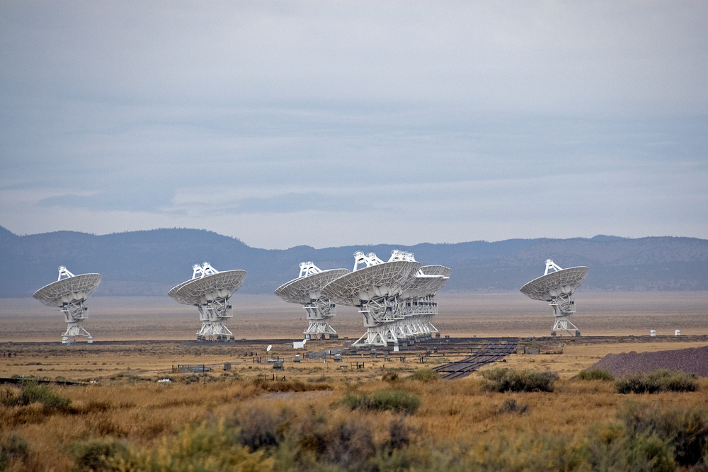 The Very Large Array (VLA) Radio Telescope, New Mexico