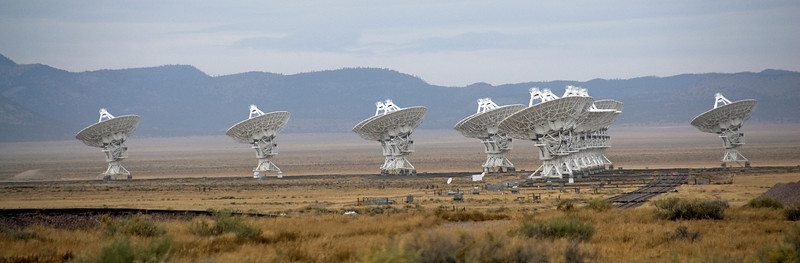 Panorama of antennas at VLA in Socorro, New Mexico
