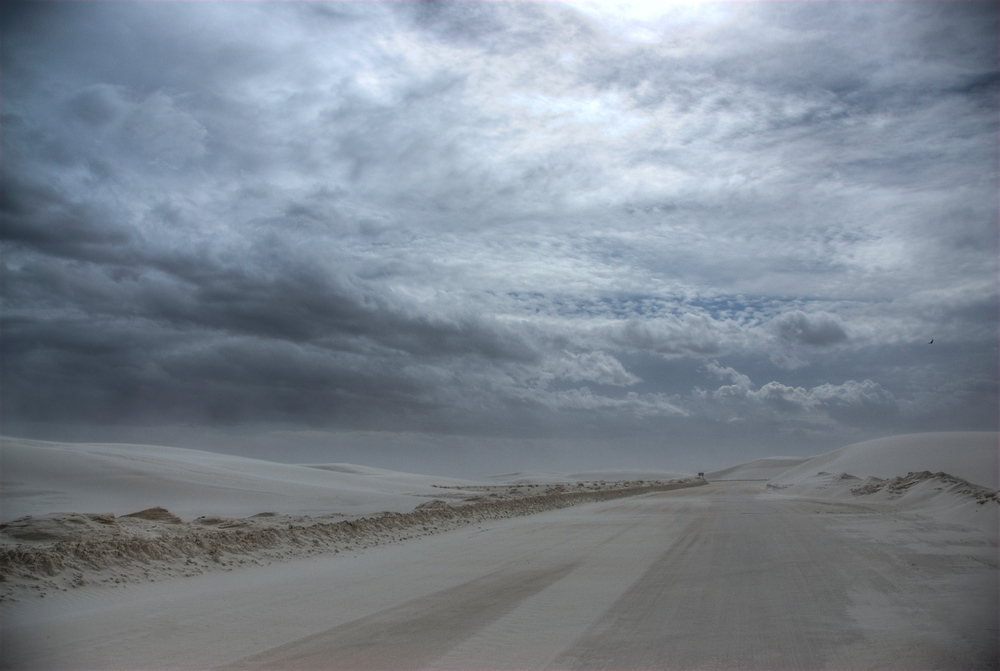 Incoming storm at White Sands National Monument, New Mexico