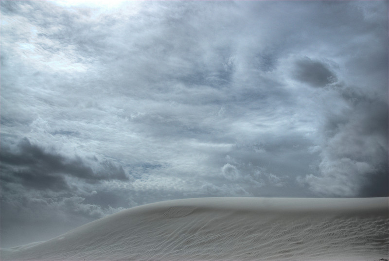 Panorama of White Sands National Monument in Alamogordo, New Mexico