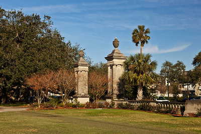 New Orleans, Louisiana The entrance to Audubon Park along St. Charles Avenue in New Orleans.