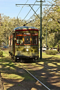 New Orleans, Louisiana A streetcar on the St. Charles Avenue Line along St. Charles Avenue in