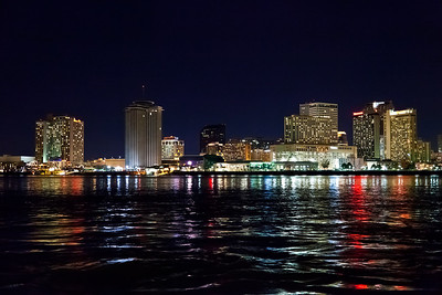 New Orleans, Louisiana The New Orleans skyline shot from the Canal Street Ferry.