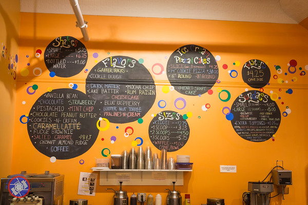 The Menu Wall at Dippity Do Dahs in Corning (©simon@myeclecticimages.com)