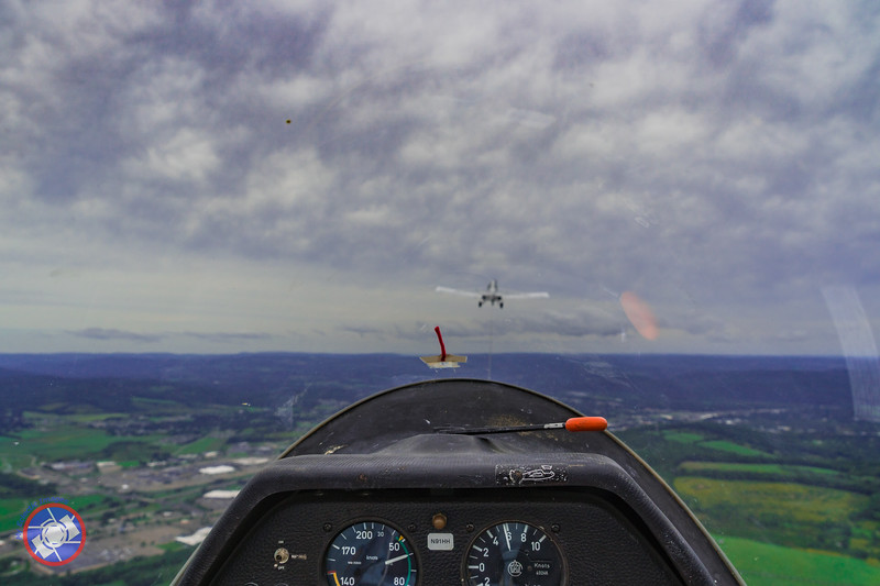 View from the Cockpit of the Glider Before Release from the Tow Plane (©simon@myeclecticimages.com)