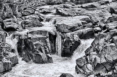 Rapids in Wilmington Flume on the Ausable River in the Adirondack Mountains in New York