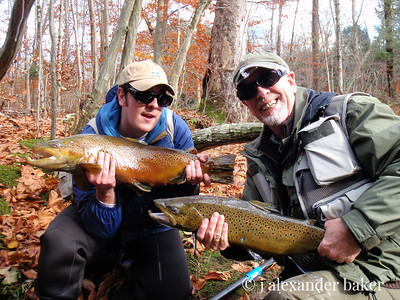 Jamie & Alex with 2 Big Brown Trout