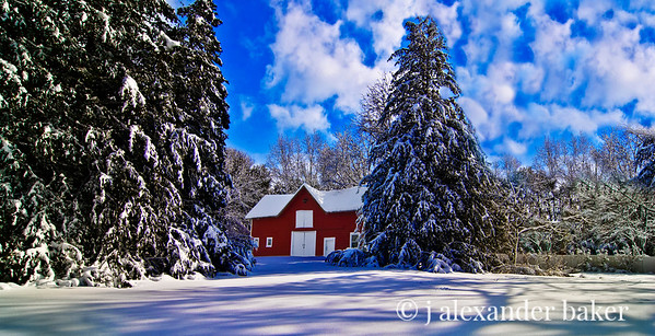 Barn in New Snow