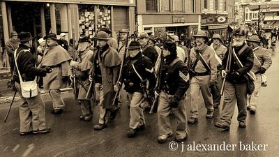 Civil War Reenactors on parade