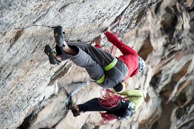 Rock climbing near Mohonk Mountain House in New York