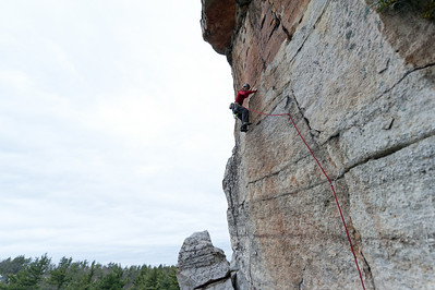 Rock climbing near Mohonk Mountain House in New York