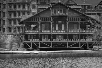 Mohonk Mountain House building near Lake Mohonk in New Paltz, New York