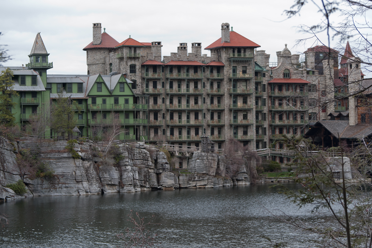Mohonk Mountain House Facade in New Paltz, New York