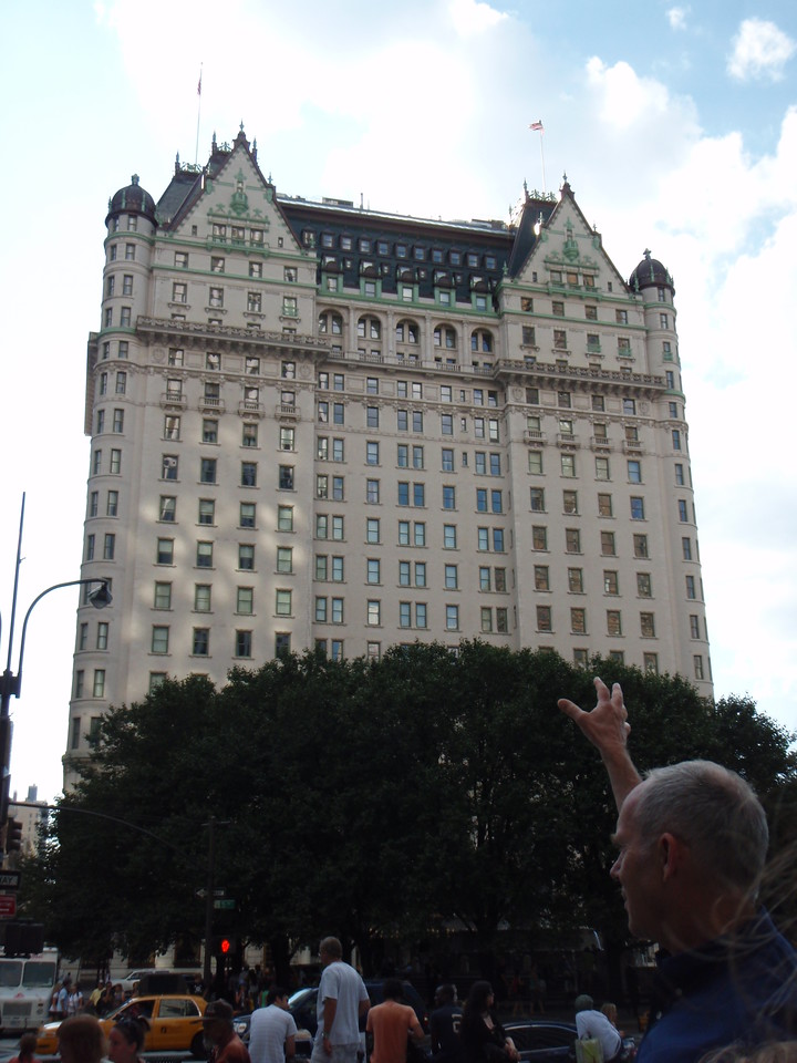 Badje trying to grab the Plaza Hotel