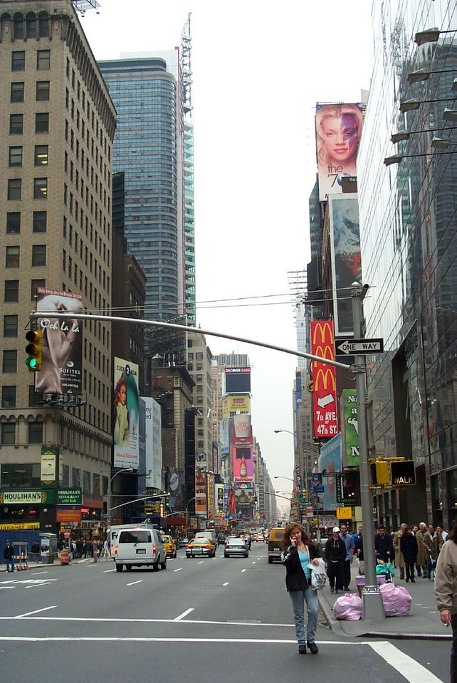 Intersection at 7th Avenue, New York City
