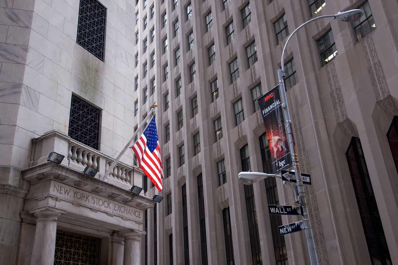 New York Stock Exchange in Wall St, New York