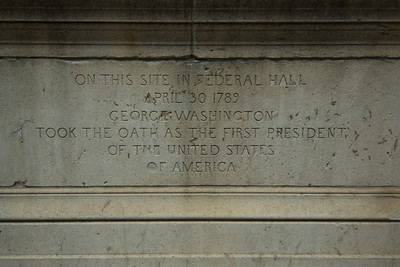 Memorial at the Federal Hall in Wall St, New York