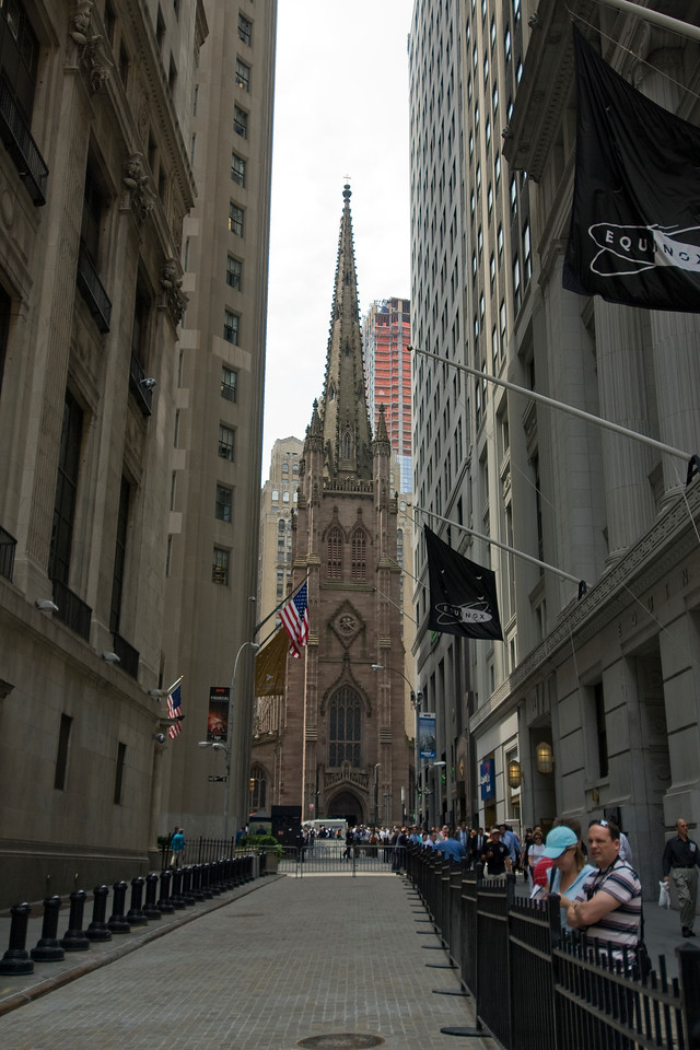 Trinity Church in Lower Manhattan, New York