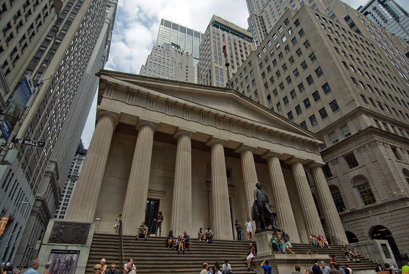 Federal Hall National Memorial in Wall Street, Manhattan, New York