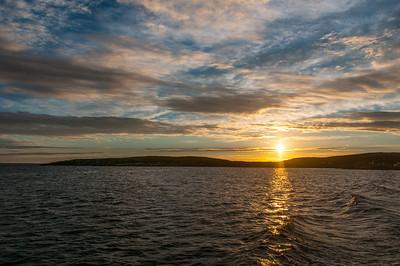 Sunset over Battle Harbour, Newfoundland and Labrador, Canada