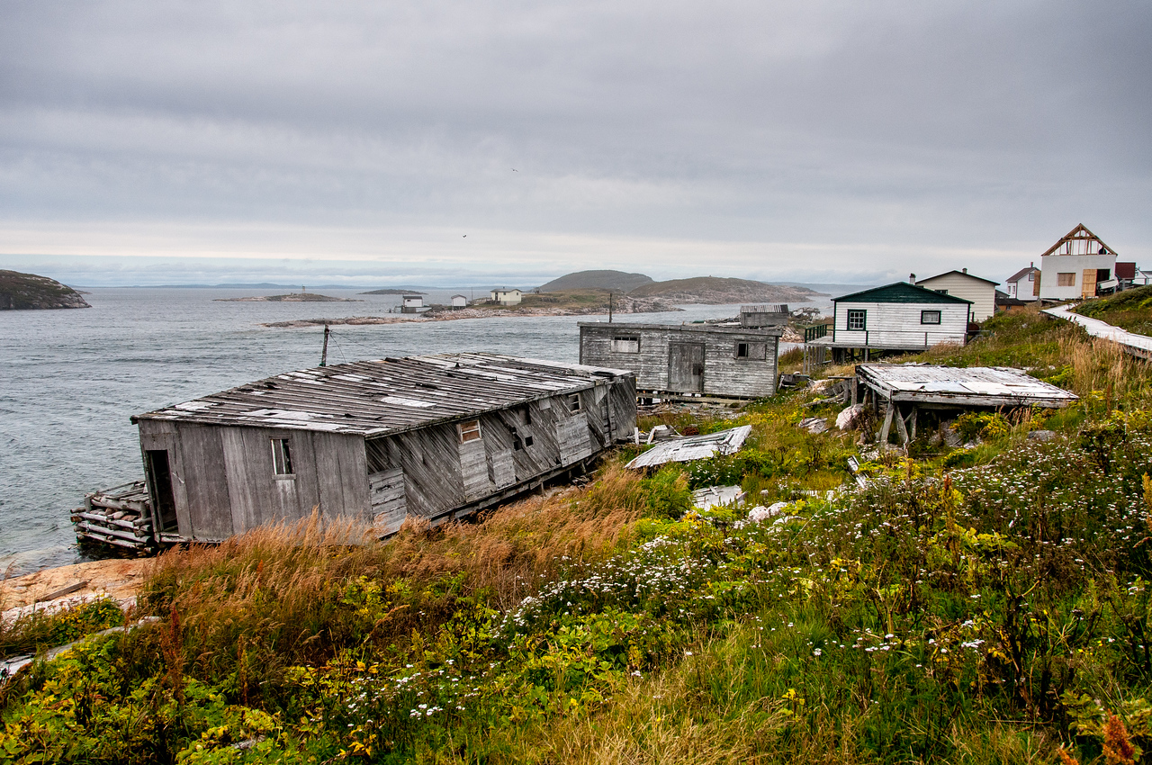 Old buildings in Battle Harbour, Canada