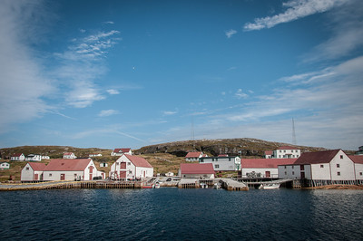 Buildings near the dock in Battle Harbour in Canada