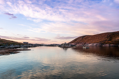 Panorama of Battle Harbour in Canada