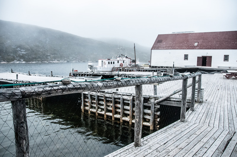 Fishing dock in Battle Harbour, Canada