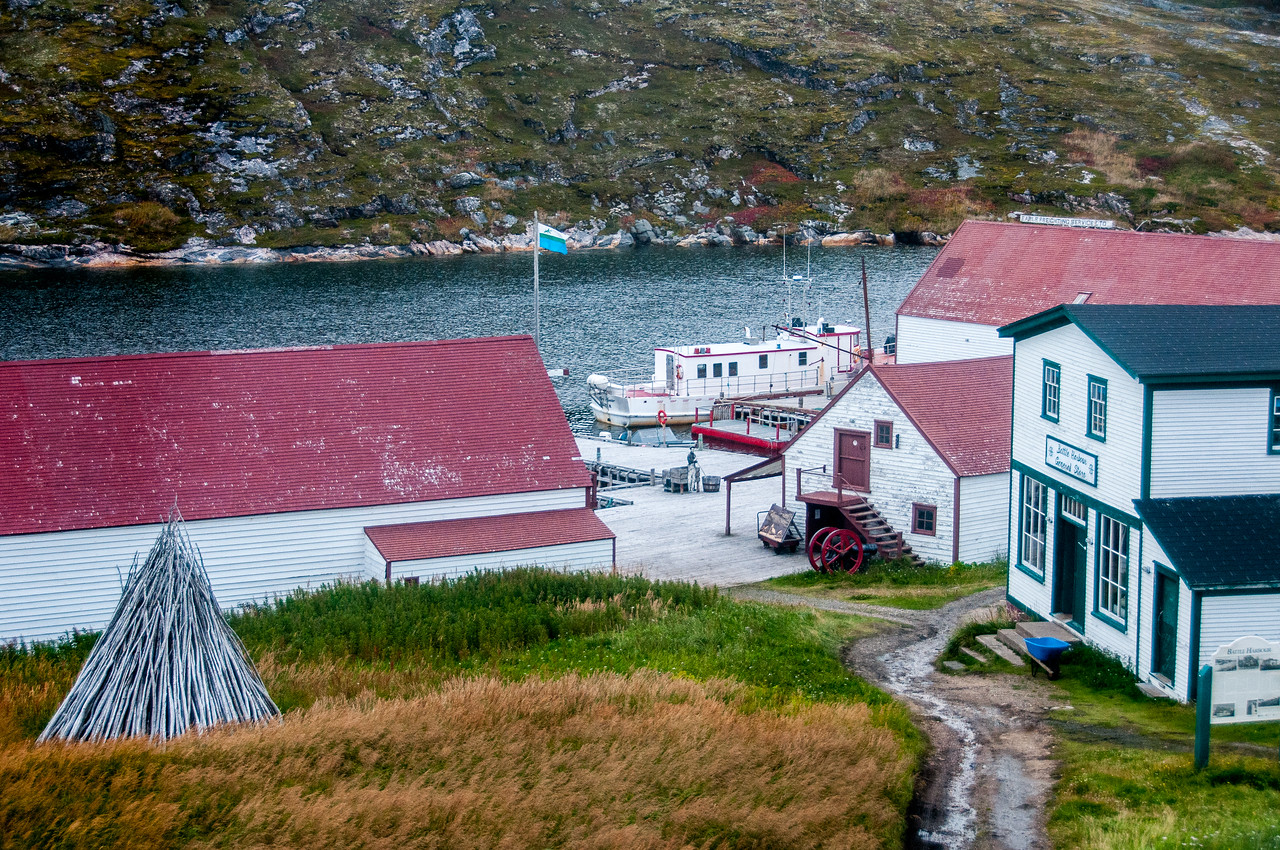 View of the fishing dock in Battle Harbour, Newfoundland and Labrador, Canada