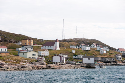 Panorama of Battle Harbour in Newfoundland and Labrador, Canada