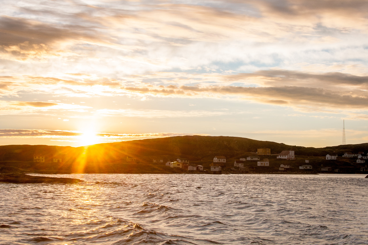 Sunset over Battle Harbour in Newfoundland and Labrador, Canada
