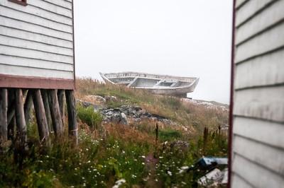 Boat wreck in Battle Harbour, Canada