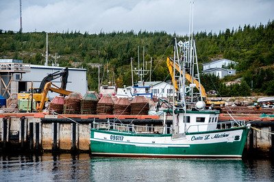 Fishing vessel in Battle Harbour, Newfoundland and Labrador, Canada