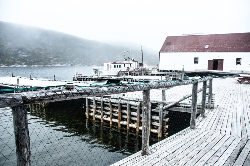 Fishing dock at Battle Harbour in Newfoundland and Labrador, Canada