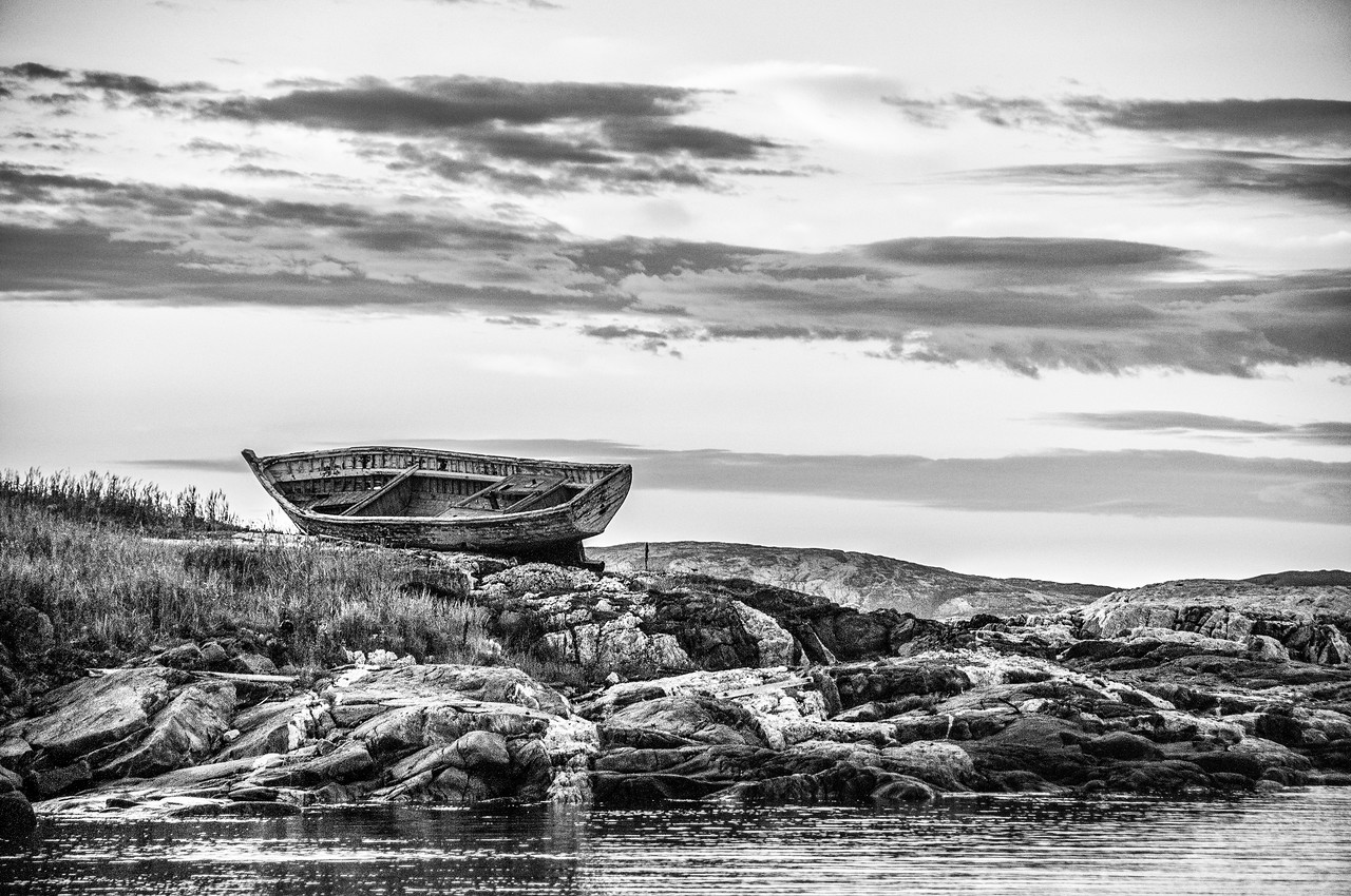 Boat wreck in Battle Harbour, Canada